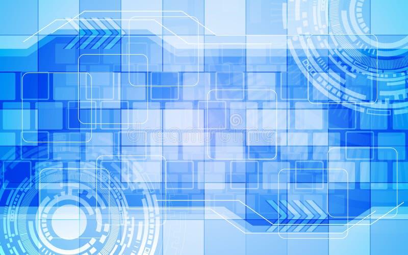 Modèle de rectangle de fond d'abrégé sur concept d'innovation de technologie numérique illustration libre de droits