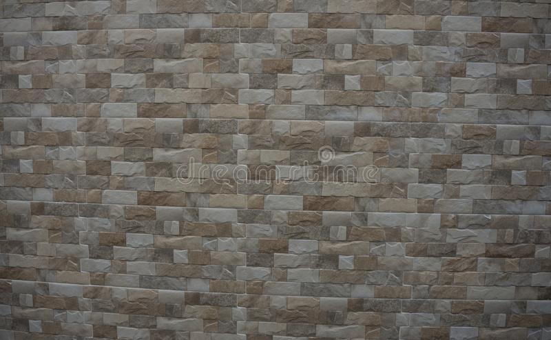 Modèle de roche de brique de RocNature de brique sur la texture de Wall Decoration Home Thailandk de barrière sur la décoration d images libres de droits