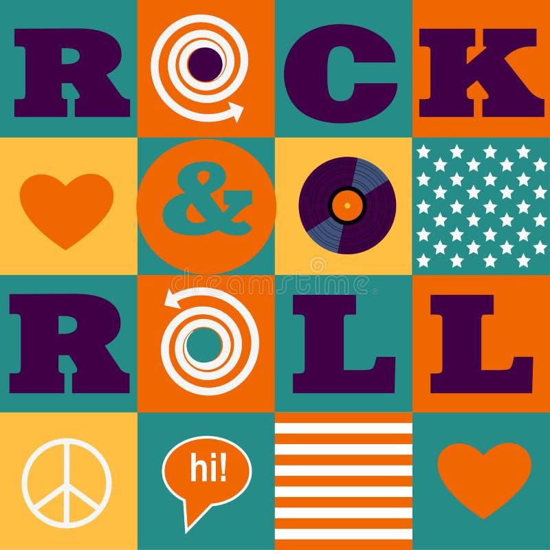Modèle de rock illustration de vecteur