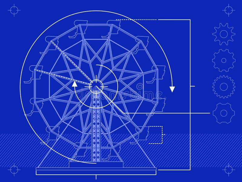 Modèle de roue de Ferris illustration libre de droits