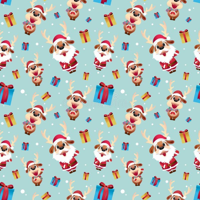 Modèle de Santa de renne photos stock