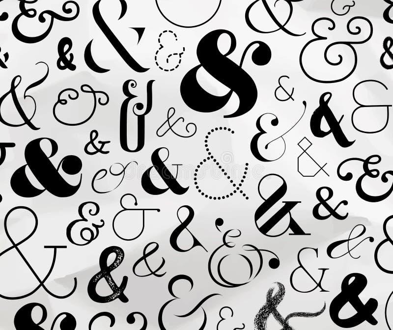 Modèle de symbole d'esperluète illustration libre de droits