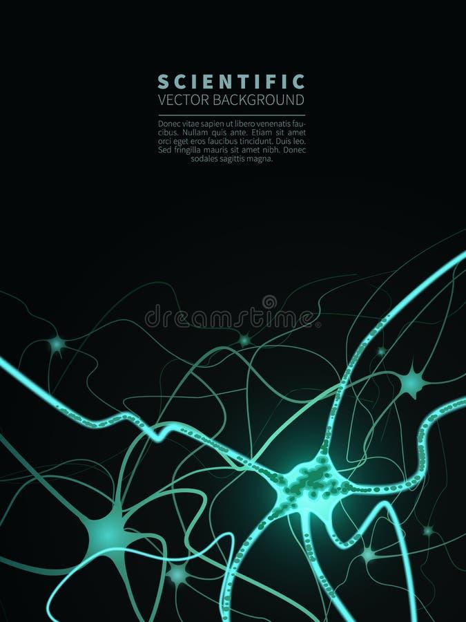 Modèle de système neural illustration libre de droits