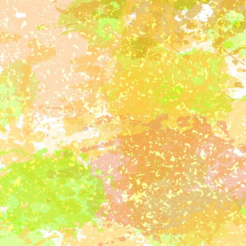 Modèle de tache d'éclaboussure de Watercolored à l'arrière-plan blanc de couleur Vecteur illustration libre de droits