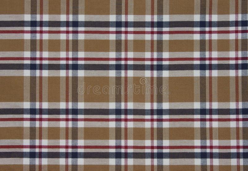 Modèle de tartan de tissu brun photos stock