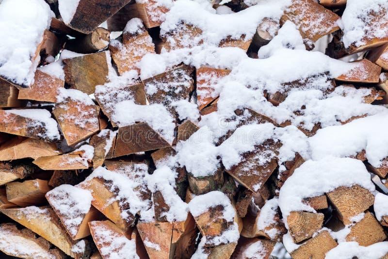 Modèle de texture de fond d'hiver avec le firew coupé sec empilé photos libres de droits