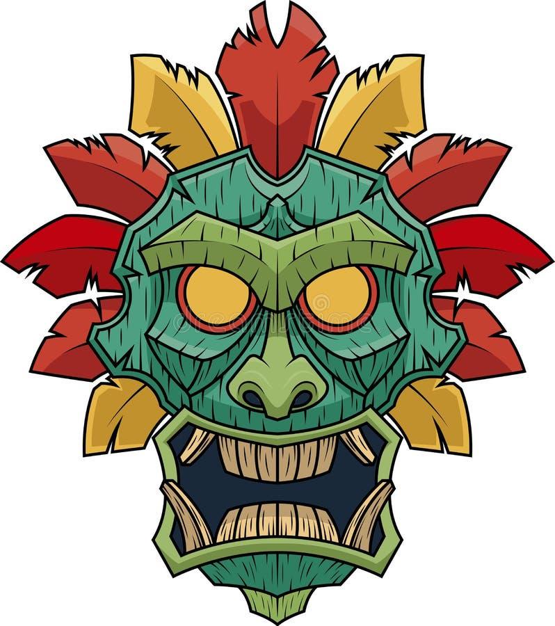 Modèle de Tiki deuxièmes de masque illustration de vecteur