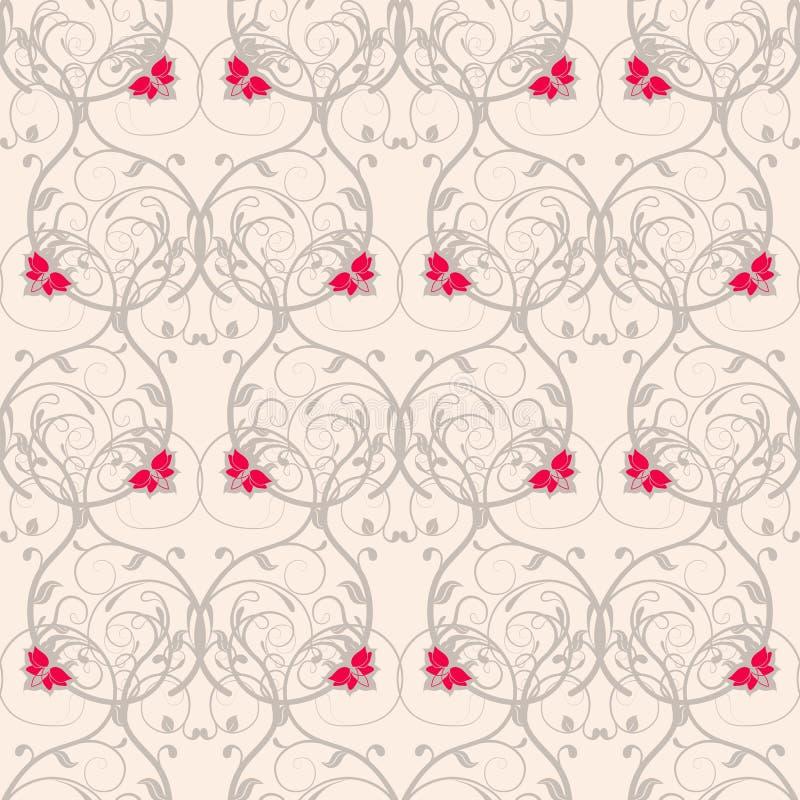 Modèle de tissage floral sans couture Fond doux sans transparent illustration stock