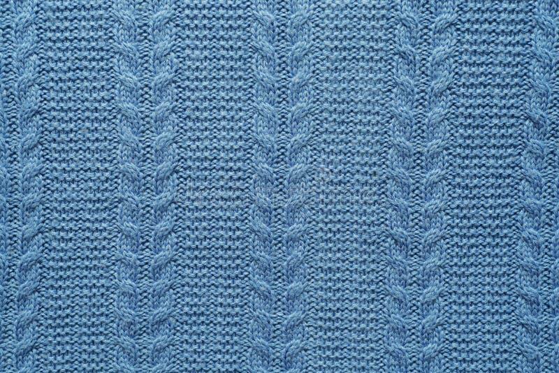 Modèle de tissu de laine coloré dans le bleu photo libre de droits