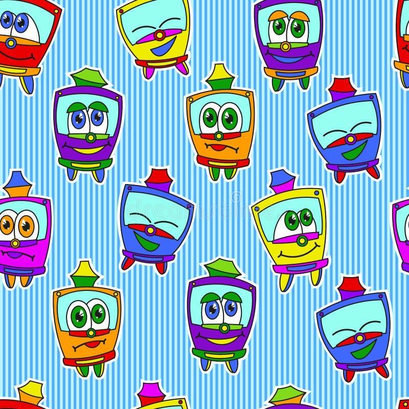 Modèle de trams d'enfants illustration stock