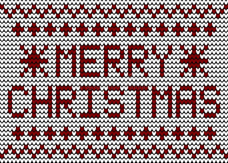 Modèle de tricotage de Joyeux Noël images libres de droits