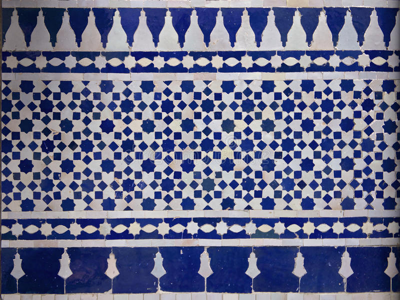 Modèle de tuile de Zellige de Marocain photo stock