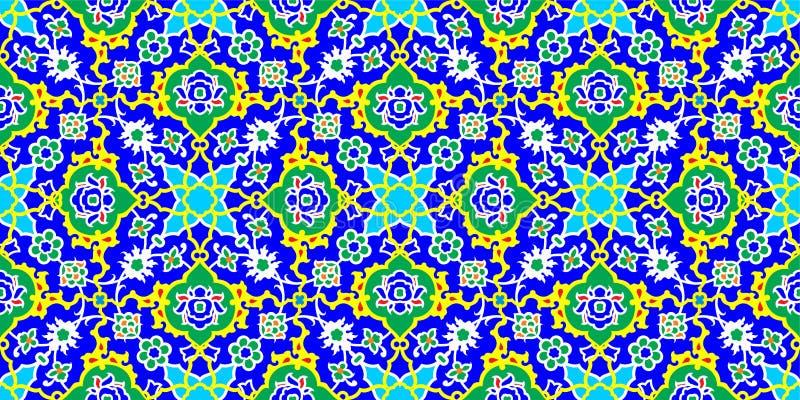 Modèle de tuile de mosaïque, motif islamique illustration de vecteur