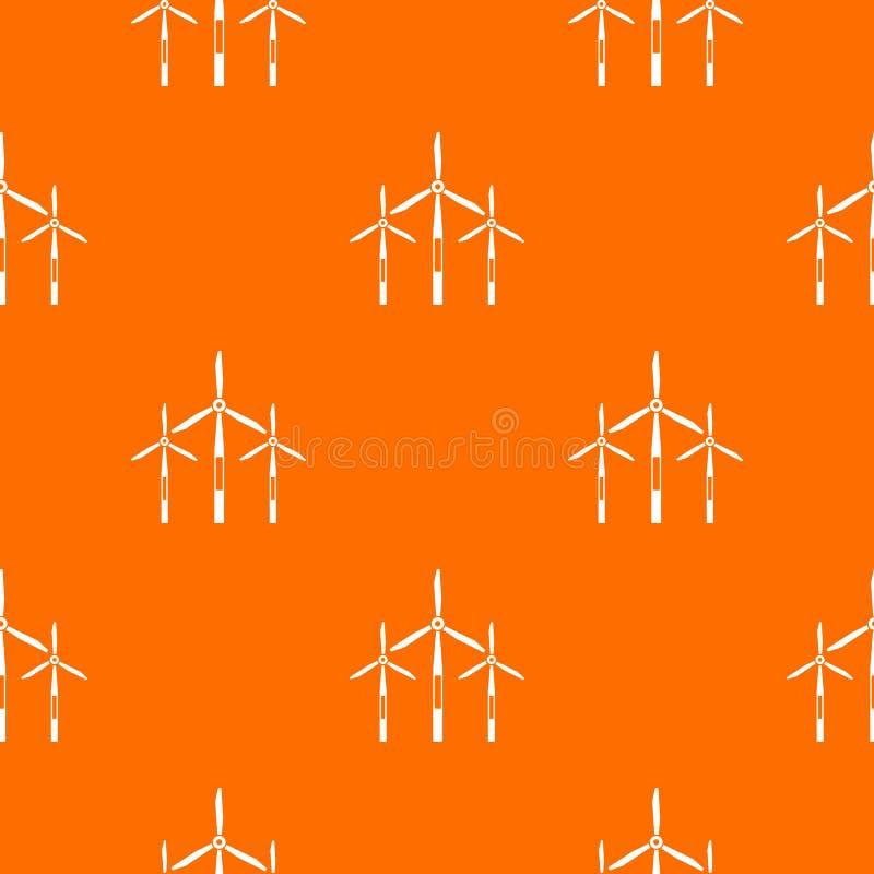 Modèle de turbines de générateur de vent sans couture illustration de vecteur