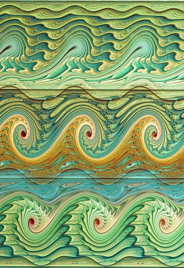 Modèle de vague illustration stock
