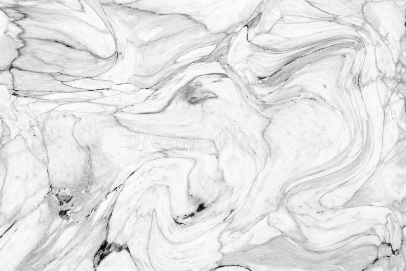 Modèle de vague abstrait, fond de marbre gris blanc de texture d'encre photographie stock