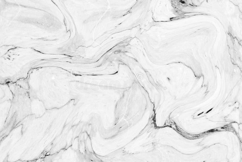 Modèle de vague abstrait, fond de marbre gris blanc de texture d'encre photographie stock libre de droits