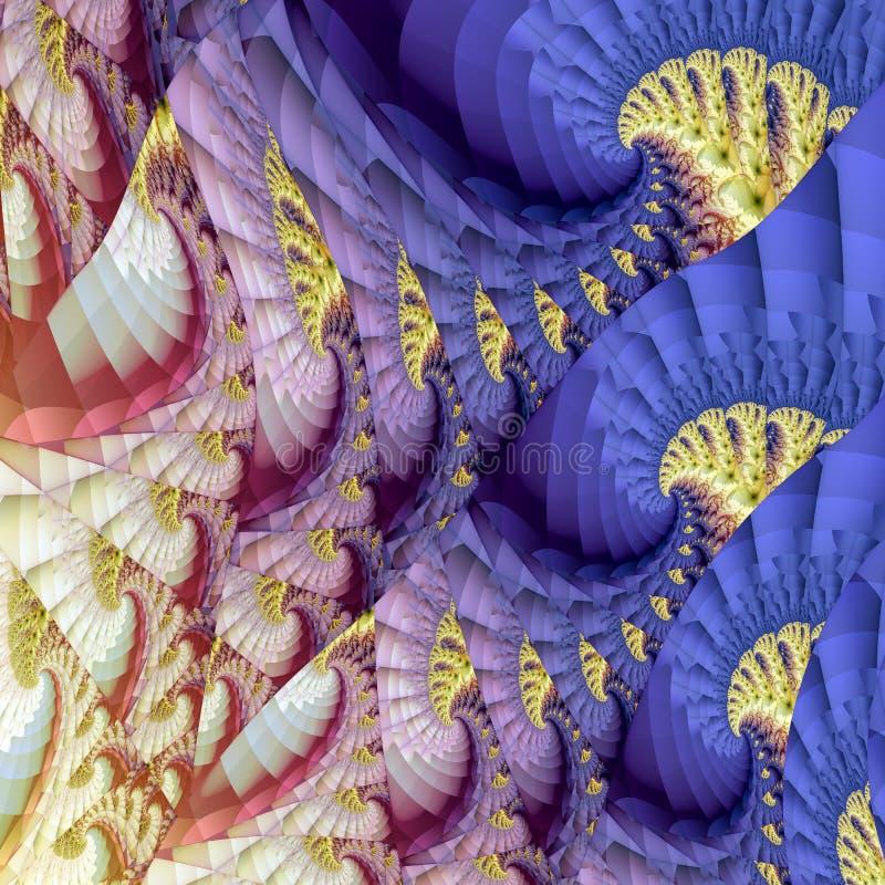 Modèle de vague coloré abstrait illustration de vecteur