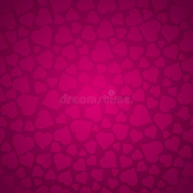 Modèle de valentines avec les coeurs roses Modèle rose Conception de jour de valentines Peut être employé pour le tissu, réservat illustration libre de droits
