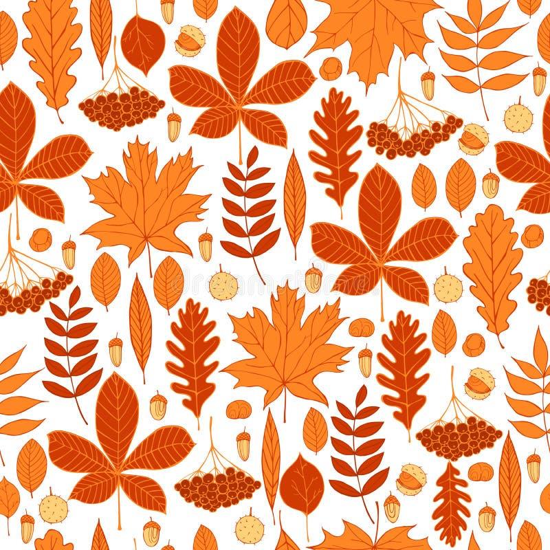 Modèle de vecteur avec des feuilles d'automne illustration stock