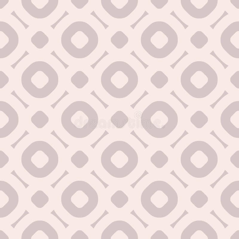 Modèle de vecteur géométrique simple dans des couleurs à la mode, pâles sans couture - rose et rose illustration stock