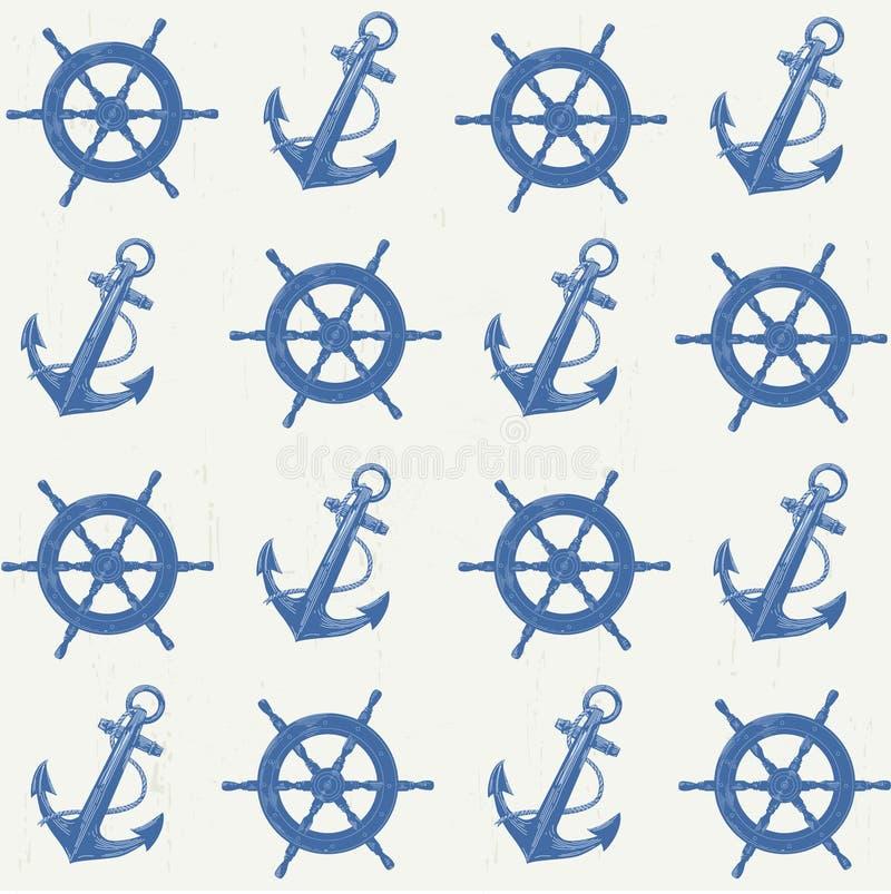Modèle de vecteur nautique photos stock