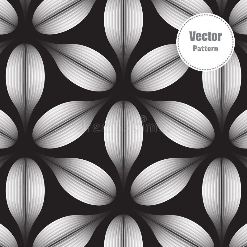 Modèle de vecteur, répétant la fleur linéaire avec l'effet de gradient l'utilisateur peut déplacer une couche illustration stock