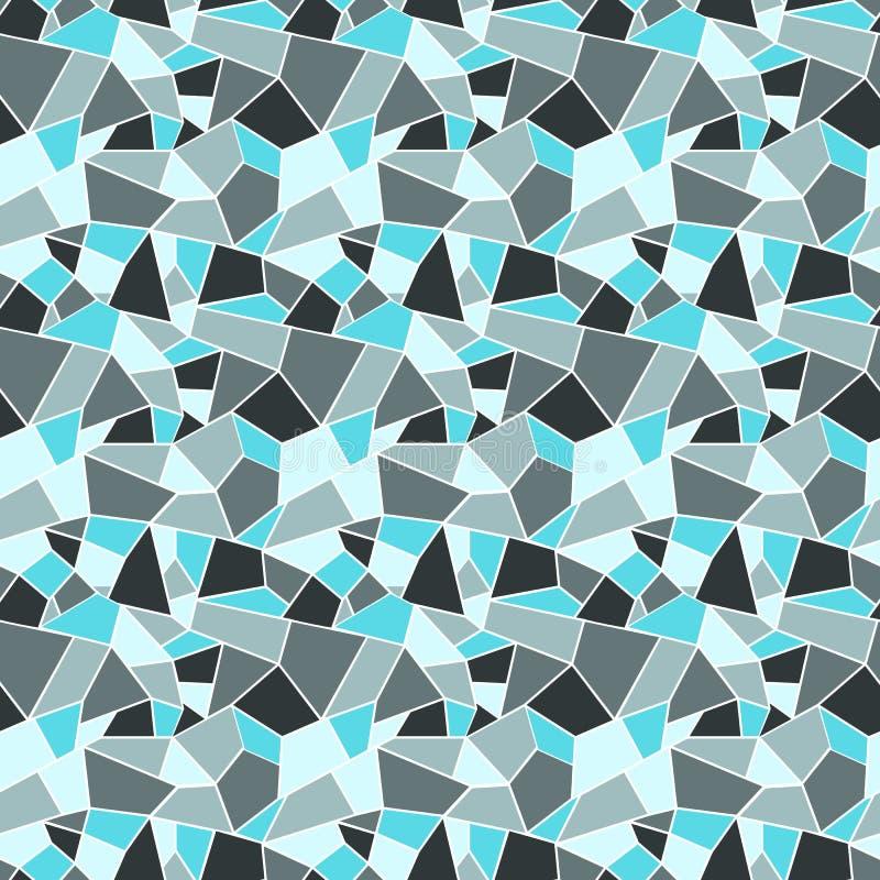 Modèle de verre coloré de vitrage de Seamles dans des couleurs froides d'hiver - illustration libre de droits