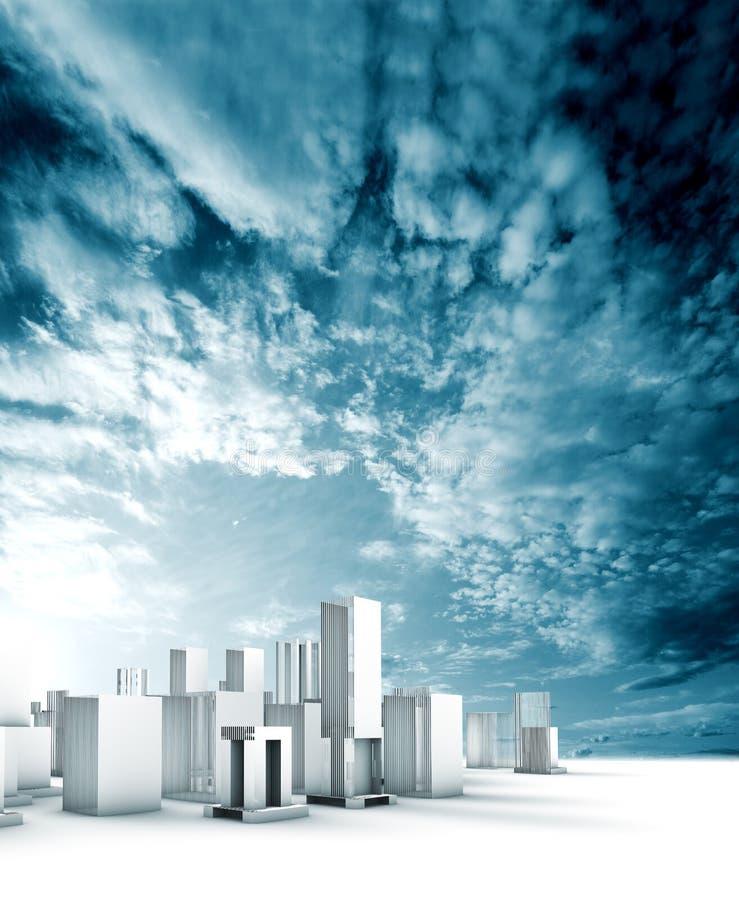 Modèle de ville illustration libre de droits