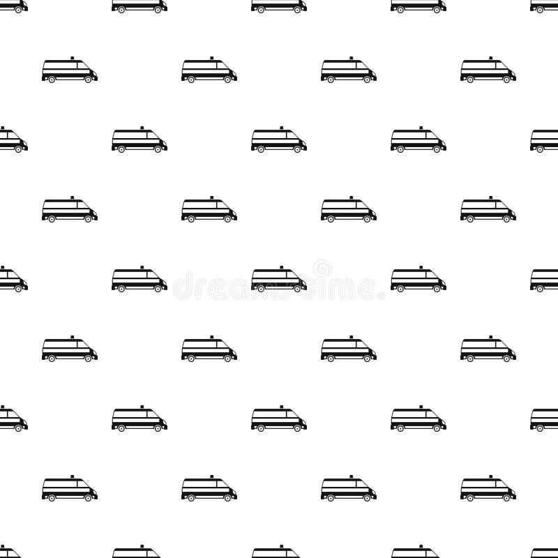 Modèle de voiture d'ambulance, style simple illustration libre de droits