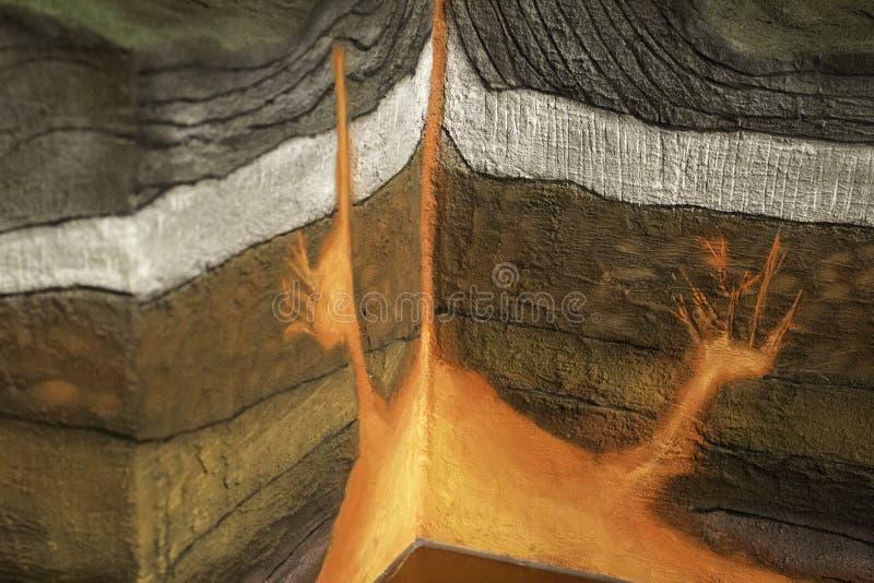 Modèle de volcan photographie stock