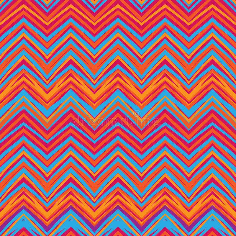 Modèle de zigzag ethnique, fond sans couture de style aztèque illustration libre de droits