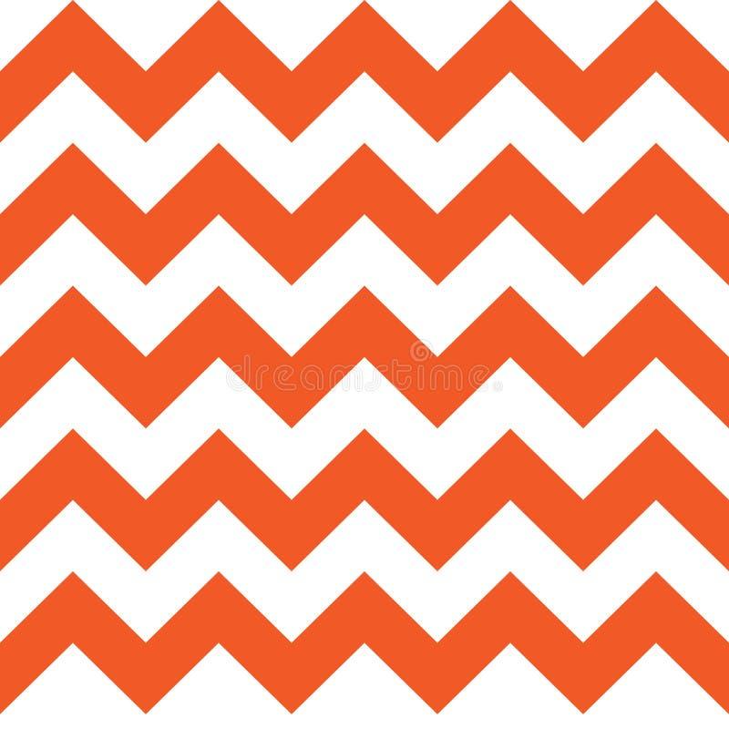 Modèle de zigzag orange illustration stock