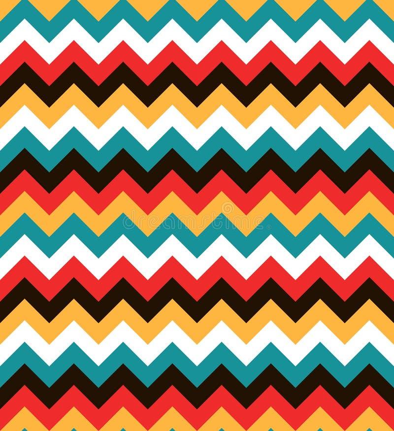 Modèle de zigzag sans couture coloré lumineux Fond abstrait de chevron illustration libre de droits