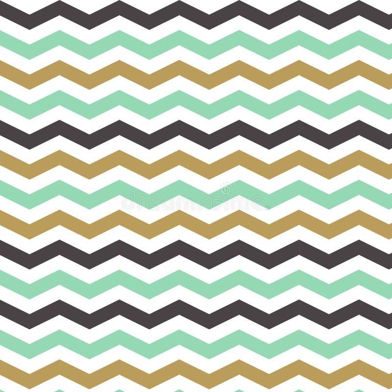 Modèle de zigzag sans couture dans des couleurs en pastel Illustration de vecteur illustration de vecteur