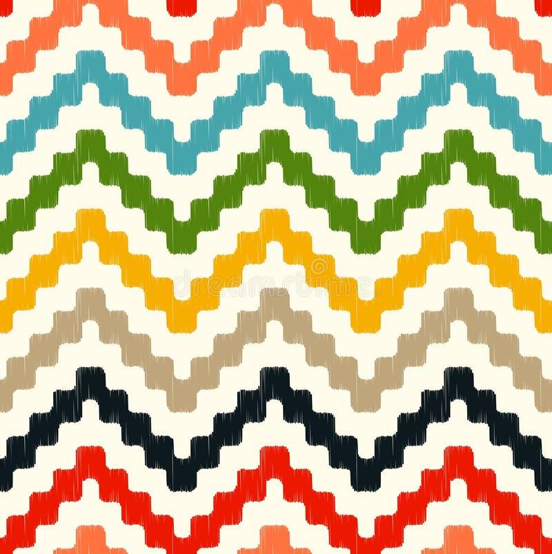 Modèle de zigzag sans couture de griffonnage illustration libre de droits