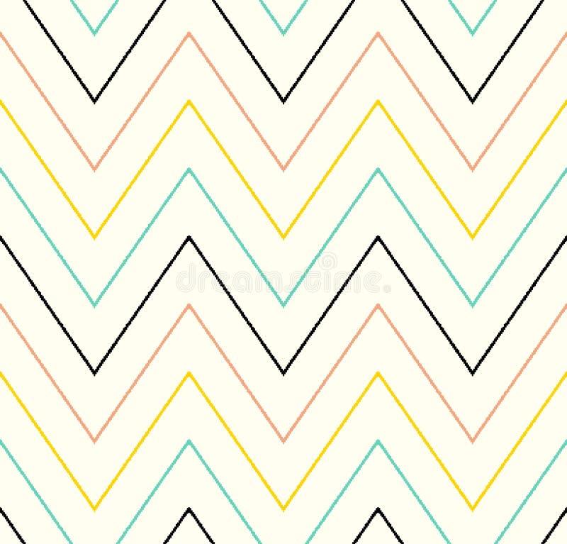 Modèle de zigzag sans couture de griffonnage illustration de vecteur