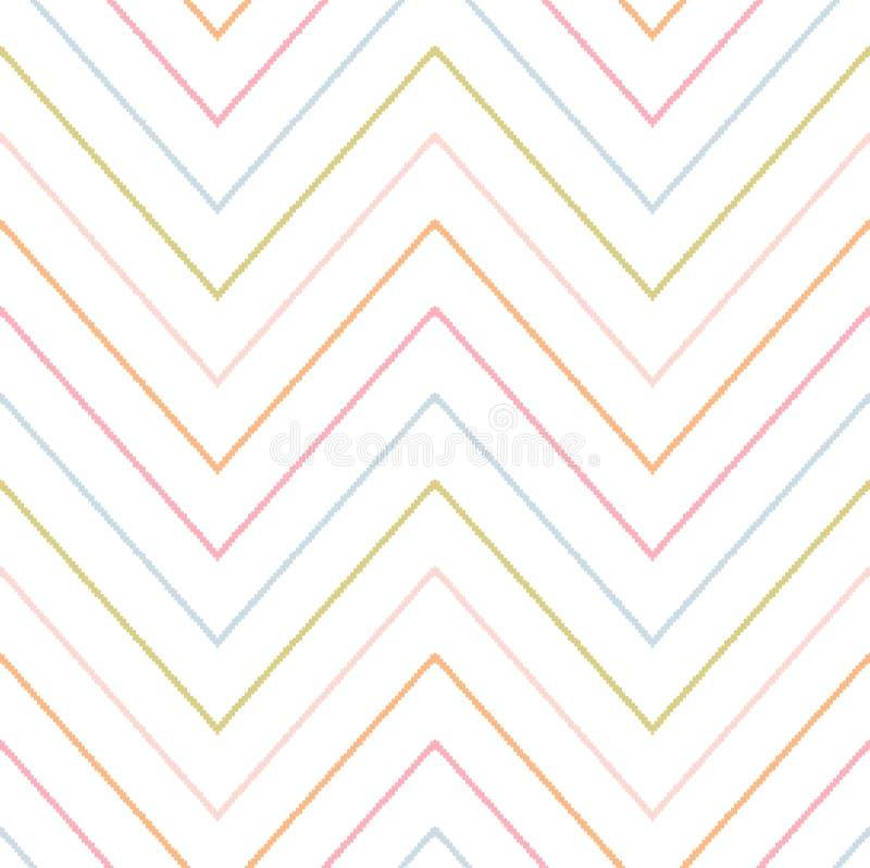 Modèle de zigzag sans couture de griffonnage illustration stock