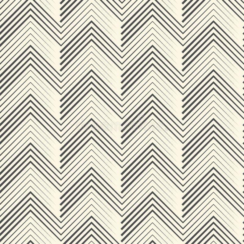 Modèle de zigzag sans couture Fond noir et blanc abstrait V illustration de vecteur