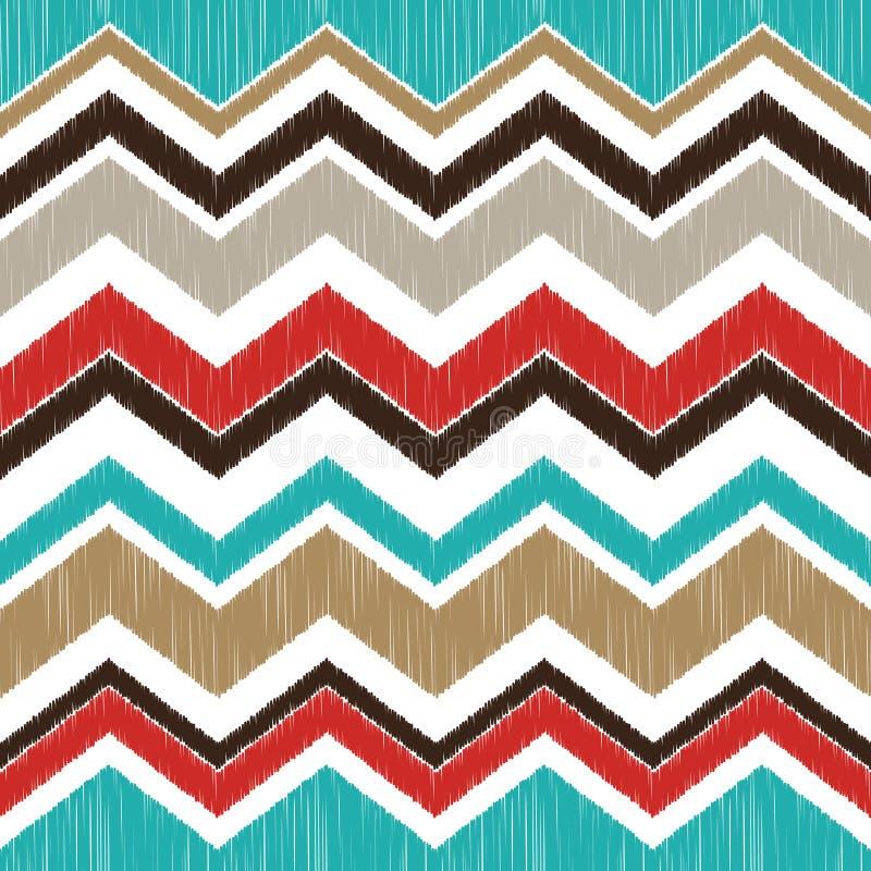 Modèle de zigzag texturisé sans couture illustration stock