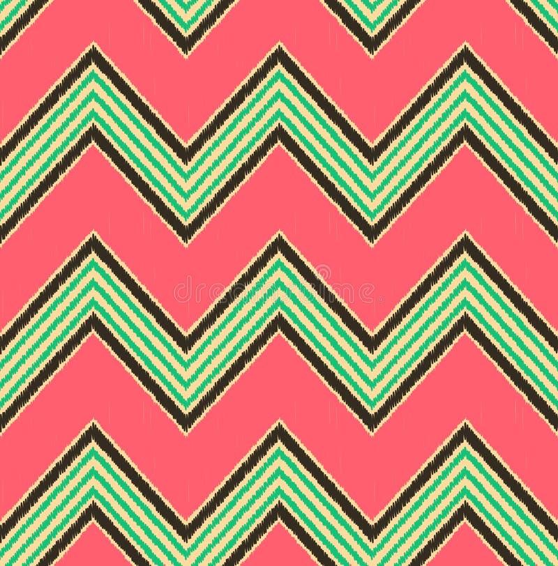 Modèle de zigzag texturisé sans couture de mode illustration libre de droits