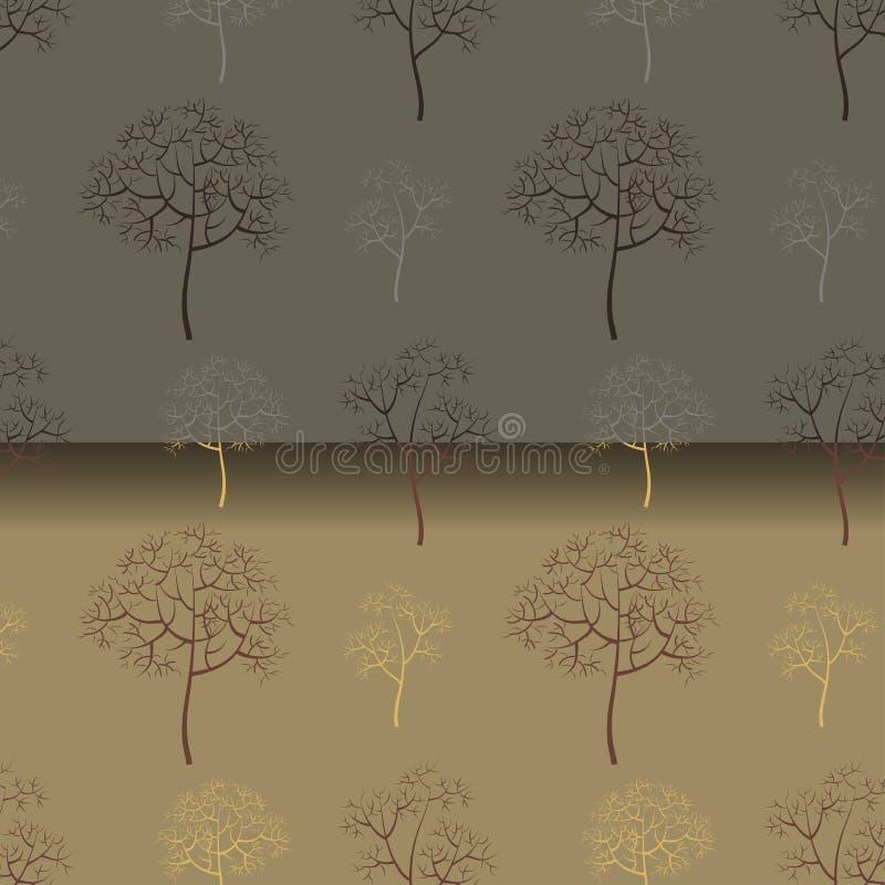 Modèle des arbres sans feuilles illustration libre de droits