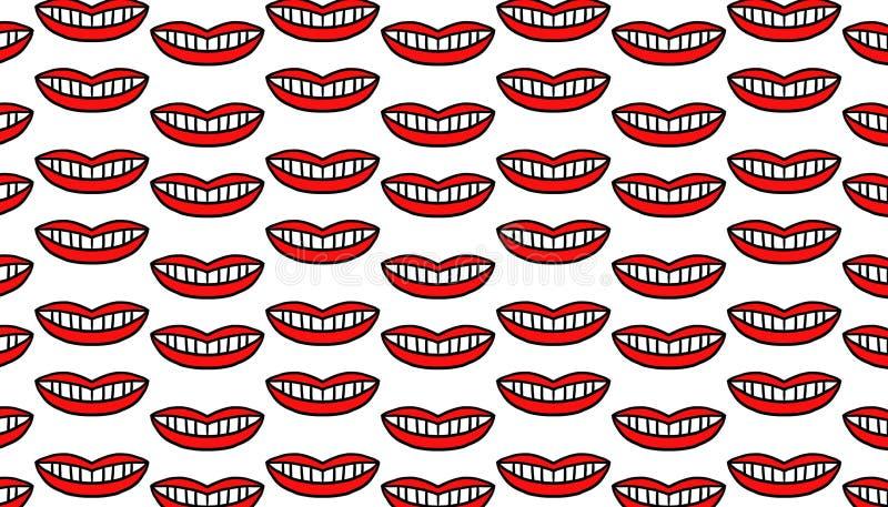 Modèle des bouches rouges illustration libre de droits