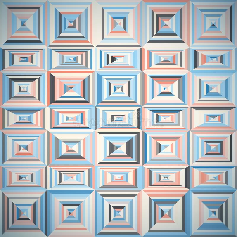 Modèle des formes géométriques avec des tuiles illustration stock