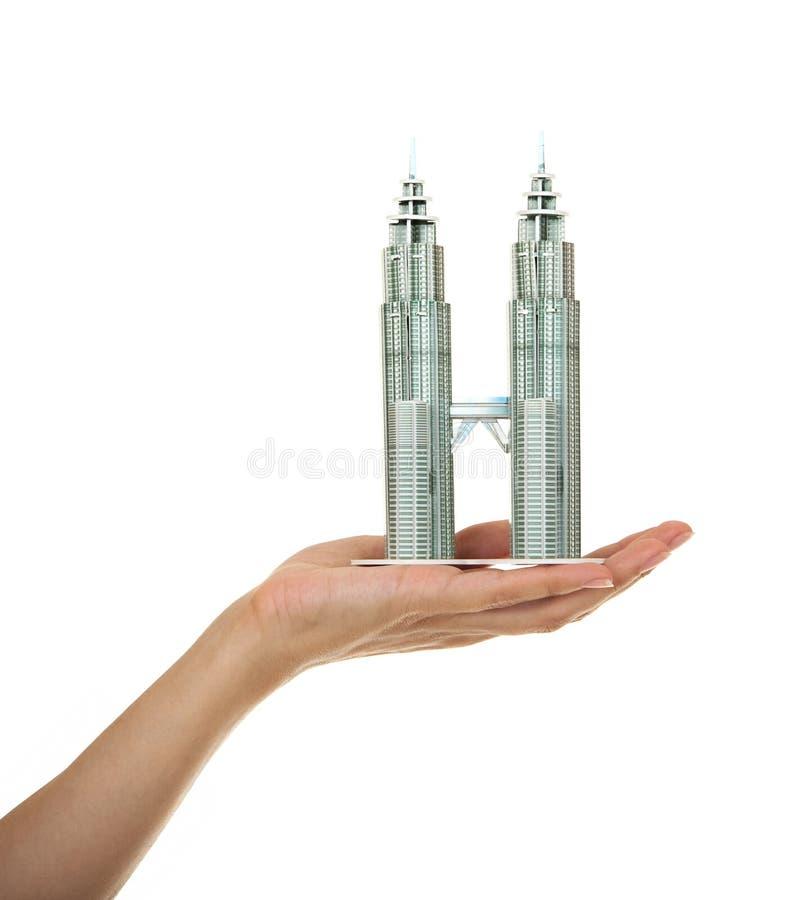 Modèle des gratte-ciel image stock