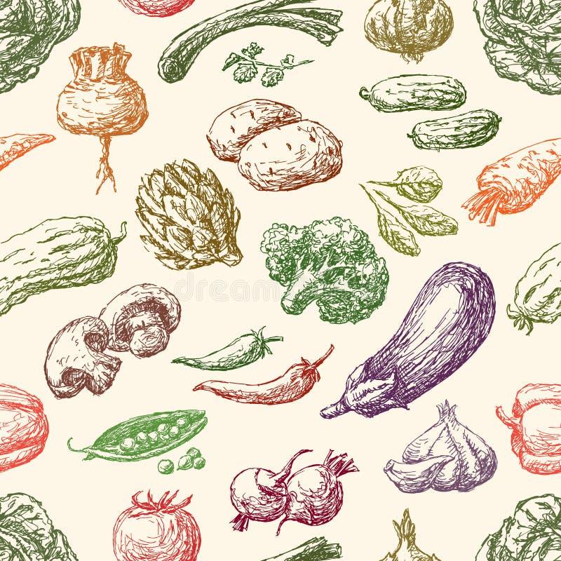 Modèle des légumes illustration de vecteur