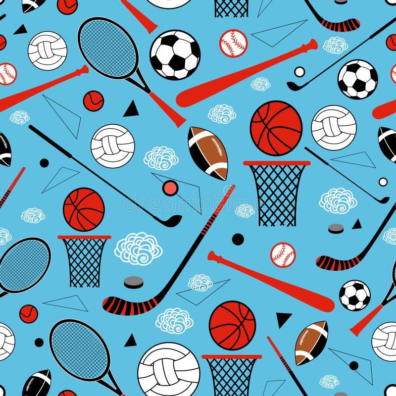 Modèle des marchandises sportives illustration libre de droits