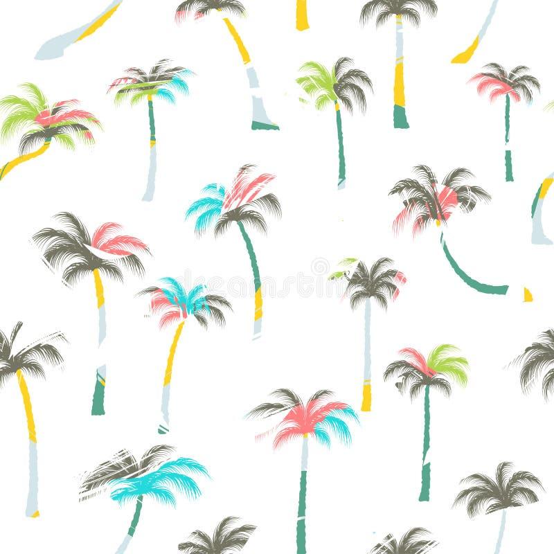 Modèle des palmiers Palmiers sans couture illustration de vecteur