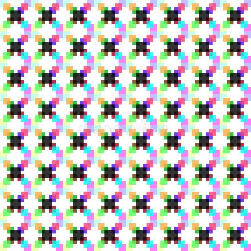 Modèle des points polychromes de pixel illustration de vecteur