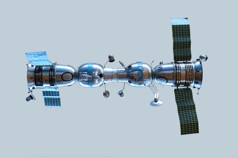 Modèle des vaisseaux spatiaux relié Soyuz 4 et Soyuz 5 photographie stock libre de droits